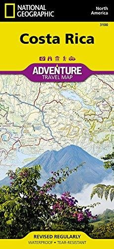 Adventure Map Costa Rica 1:350.000 9781566953146  National Geographic Adventure Map  Landkaarten en wegenkaarten Costa Rica