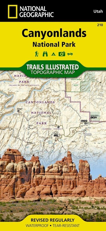 TI210 Canyonlands 1:70.000 9781566953269  National Geographic / Trails Illustrated Nat.Park/Recr.Series  Wandelkaarten Colorado, Arizona, Utah, New Mexico