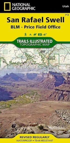 TI712  San Rafael Swell 1:90.000 9781566953313  National Geographic / Trails Illustrated Nat.Park/Recr.Series  Wandelkaarten Colorado, Arizona, Utah, New Mexico