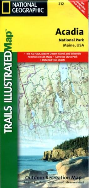 TI212  Acadia National Park 1:35.000 9781566953528  National Geographic Trails Illustrated  Wandelkaarten New England