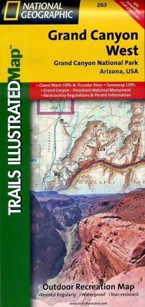 Grand Canyon West 1:90.000 9781566954969  National Geographic / Trails Illustrated Nat.Park/Recr.Series  Wandelkaarten Colorado, Arizona, Utah, New Mexico