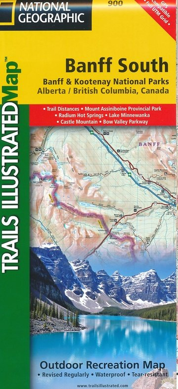 TI900  Banff South 1:100.000 9781566956581  National Geographic Trails Illustrated  Wandelkaarten West-Canada, Rockies
