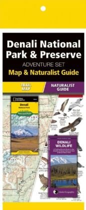 Denali National Park & Preserve Adventure Set 9781583559253  Waterford Press Map & Naturalist Guide  Natuurgidsen, Wandelkaarten Alaska