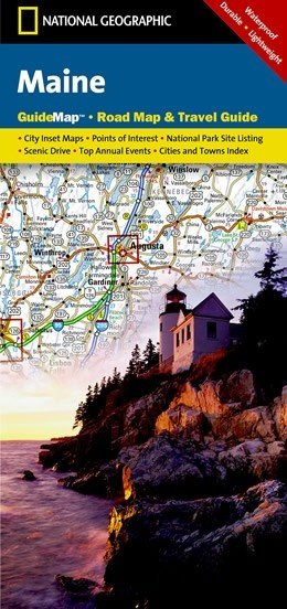 Maine 1:800.000 9781597753142  Nationla Geographic   Landkaarten en wegenkaarten New England