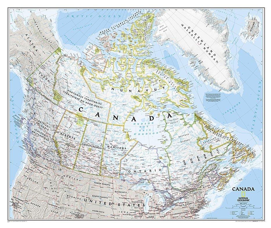 Canada | wandkaart 9781597753548  National Geographic   Wandkaarten Canada