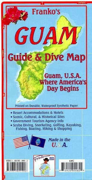 Franko's Guide Map of Guam USA 9781601900906  Franko's Maps   Landkaarten en wegenkaarten Pacifische Oceaan (Pacific)
