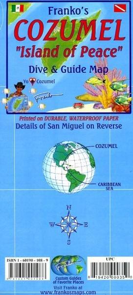 Cozumel Guide & Dive Map 1:95 000 + S.Miguel 9781601901088  Franko's Maps   Natuurgidsen Yucatan, Guatemala, Belize