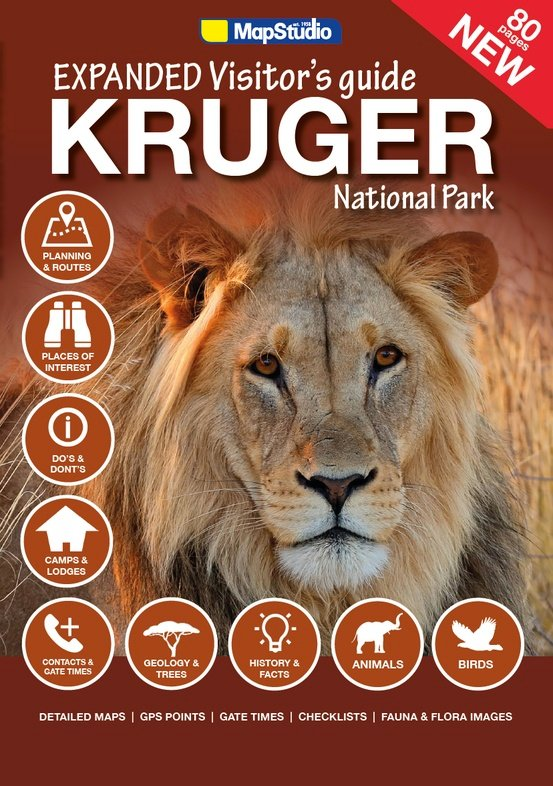 Expanded Visitor's Guide Kruger National Park 9781770269460  Map Studio   Reisgidsen Zuid-Afrika