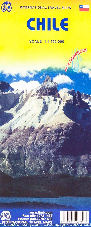 Chili    landkaart, autokaart 1:1.750.000 9781771292047  ITM   Landkaarten en wegenkaarten Chili, Argentinië, Patagonië