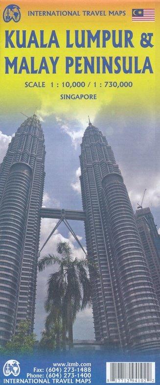 West-Maleisië 1:730.000, Kuala Lumpur 1:10.000 9781771294102  ITM   Stadsplattegronden Maleisië en Brunei