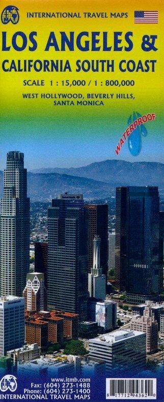 Southern California (1:1M) & Los Angeles (1:15.000) | autokaart, stadsplattegrond 9781771294362  ITM   Landkaarten en wegenkaarten California, Nevada
