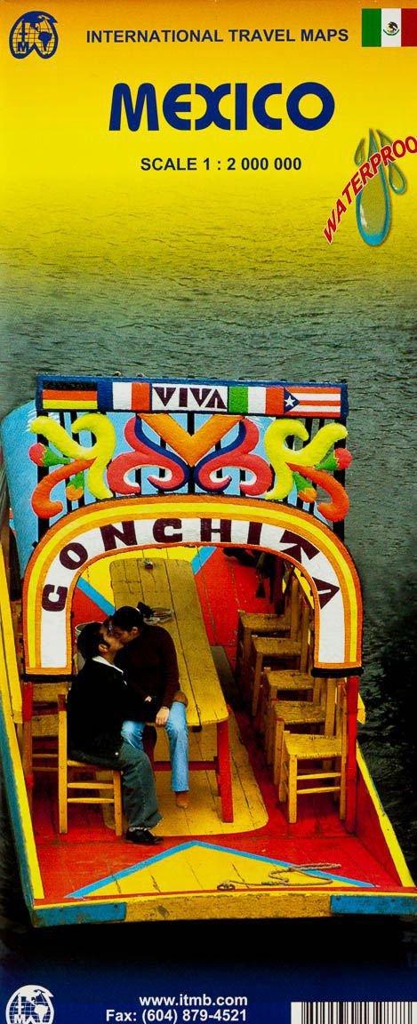 Mexico  | landkaart, autokaart 1:2.000.000 9781771294591  ITM   Landkaarten en wegenkaarten Mexico (en de Maya-regio)