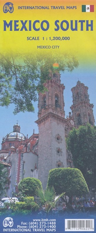 Mexico South  | landkaart, autokaart 1:1.200.000 9781771294621  ITM   Landkaarten en wegenkaarten Mexico behalve Yucatan