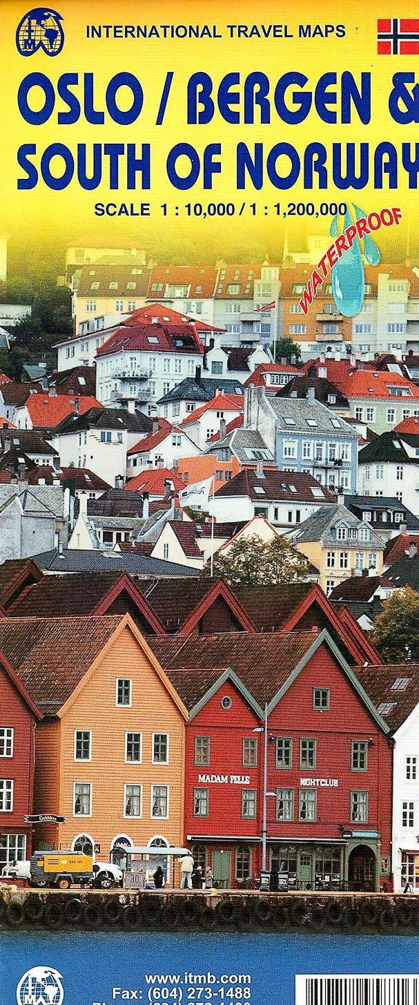 Oslo / Bergen stadsplattegrond 9781771295871  ITM   Stadsplattegronden Zuid-Noorwegen