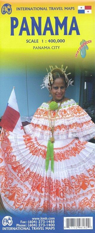 Panama | landkaart, autokaart 1:400.000 9781771296182  ITM   Landkaarten en wegenkaarten Overig Midden-Amerika