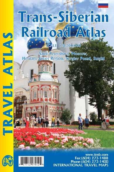 Trans-Siberian Railroad Atlas 9781771297912  ITM   Landkaarten en wegenkaarten, Wegenatlassen Siberië
