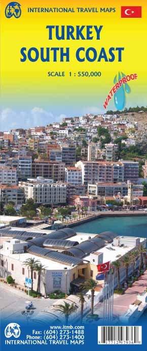 Turkije Zuidkust  | landkaart, autokaart 1:550.000 9781771297936  ITM   Landkaarten en wegenkaarten Turkije
