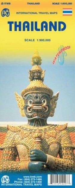 Thailand | landkaart, autokaart 1:1000.000 9781771297950  ITM   Landkaarten en wegenkaarten Thailand
