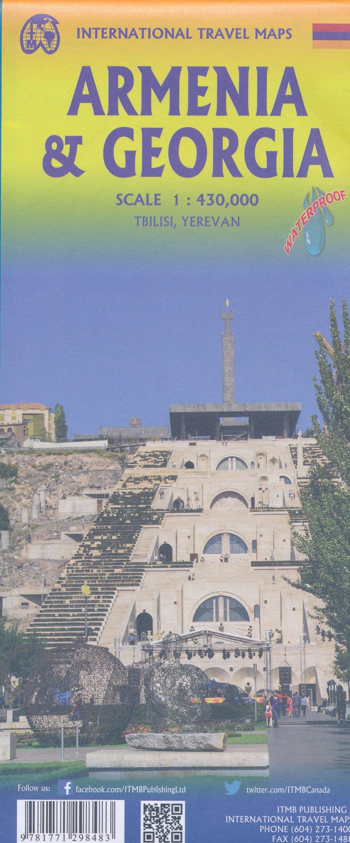 Georgia & Armenia | landkaart, autokaart 1:430.000 9781771298483  ITM   Landkaarten en wegenkaarten Kaukasus