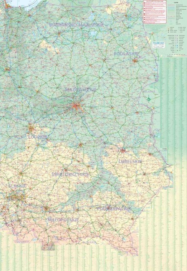 Warschau 1:9000 en Oost-Polen 1:650.000 9781771298995  ITM   Landkaarten en wegenkaarten, Stadsplattegronden Polen