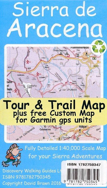 Sierra de Aracena Tour + Trail Map 1:40.000 9781782750345  Discovery Guides Wandelkaarten Spanje  Wandelkaarten Andalusië