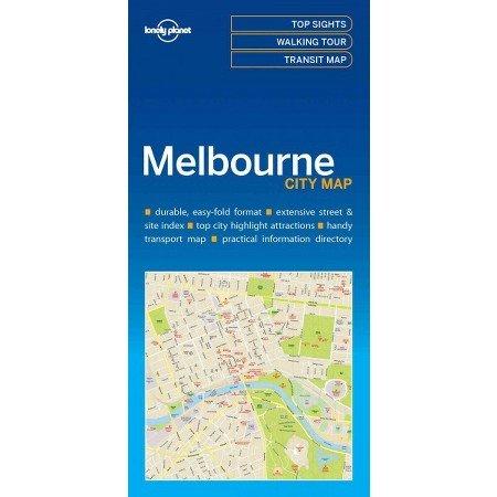 Melbourne   Lonely Planet City Map 9781786575029  Lonely Planet LP Maps  Stadsplattegronden Australië