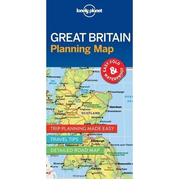 Great Britain Lonely Planet Planning Map 9781786579058  Lonely Planet Lonely Planet Planning Maps  Landkaarten en wegenkaarten Groot-Brittannië