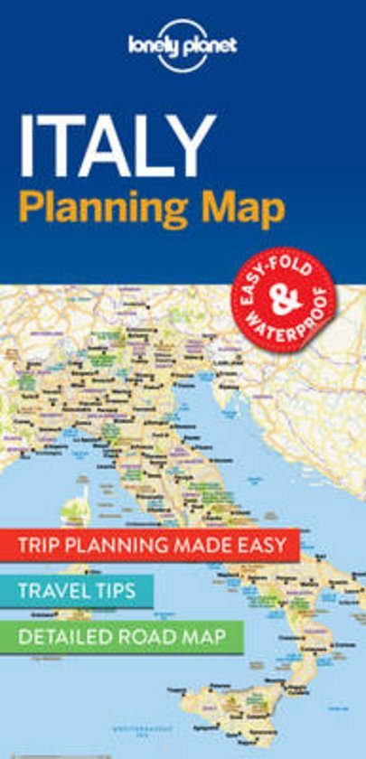 Italy Lonely Planet Planning Map 9781786579072  Lonely Planet Lonely Planet Planning Maps  Landkaarten en wegenkaarten Italië
