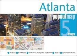 Atlanta 9781845879150  Insideout PopOut Maps  Stadsplattegronden VS Zuid-Oost, van Virginia t/m Mississippi