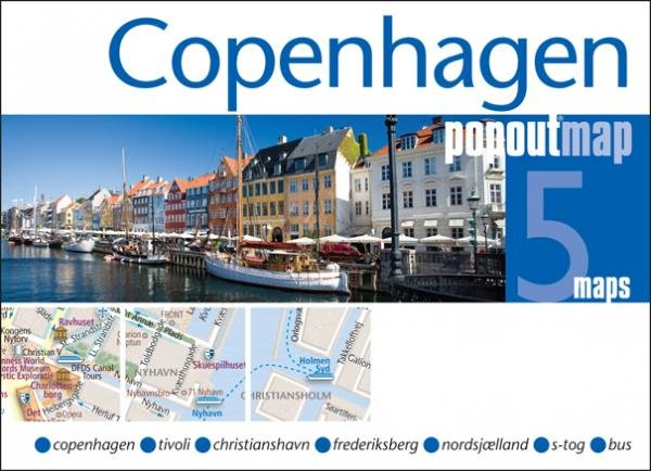 Kopenhagen pop out map | stadsplattegrondje in zakformaat 9781845879556  Grantham Book Services PopOut Maps  Stadsplattegronden Denemarken