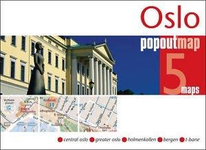 Oslo pop out map 9781845879594  Insideout PopOut Maps  Stadsplattegronden Zuid-Noorwegen