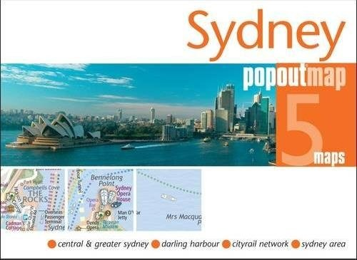 Sydney pop out map 9781845879617  Insideout Pop Out Maps  Stadsplattegronden Australië