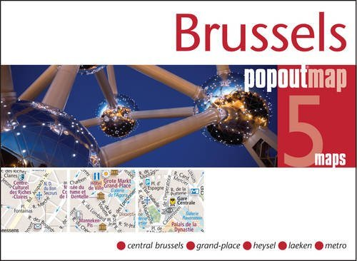Brussels pop out map 9781845879655  Insideout PopOut Maps  Stadsplattegronden Brussel
