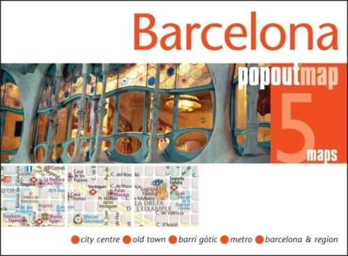 Barcelona pop out map 9781845879662  Insideout PopOut Maps  Stadsplattegronden Barcelona