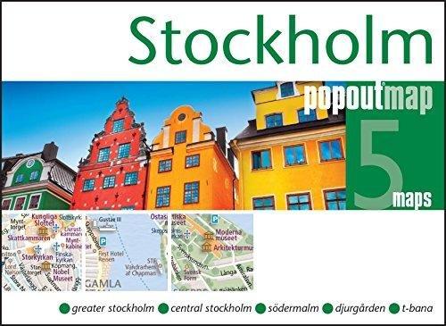 Stockholm pop out map 9781845879877  Insideout PopOut Maps  Stadsplattegronden Zuid-Zweden