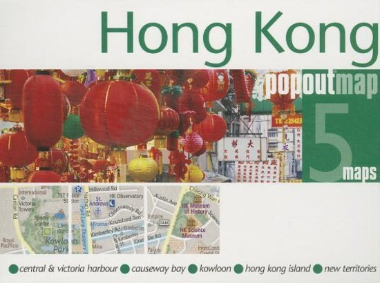 Hong Kong 9781845879921  Insideout Pop Out Maps  Stadsplattegronden China (Tibet: zie Himalaya)