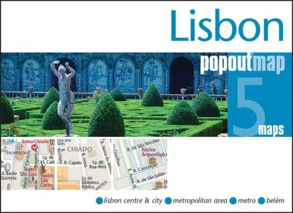 Lisbon pop out map 9781845879952  Insideout PopOut Maps  Stadsplattegronden Noord en Midden-Portugal, Lissabon