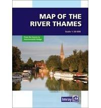 River Thames Map 9781846232374  Imray   Watersportboeken Midden- en Oost-Engeland