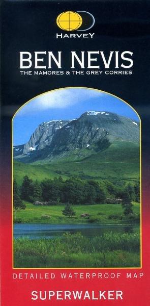 Ben Nevis | wandelkaart 1:25.000 9781851374021  Harvey Maps   Wandelkaarten Schotland