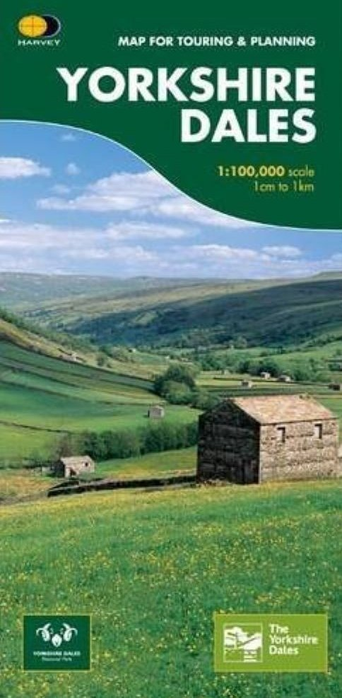 Yorkshire Dales 1:100.000 9781851374335  Harvey Maps   Fietskaarten, Landkaarten en wegenkaarten Noord-Engeland