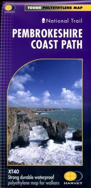Pembrokeshire Coast Path | wandelkaart 1:40.000 9781851374595  Harvey Maps   Wandelkaarten, Meerdaagse wandelroutes Wales