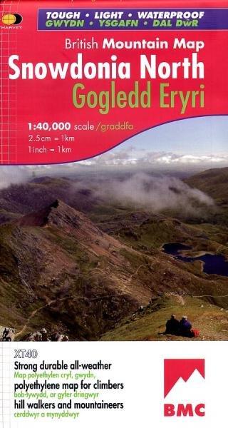 Snowdonia North Mountain Map | wandelkaart 1:40.000 9781851374724  Harvey Maps   Wandelkaarten Wales