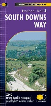 South Downs Way | wandelkaart 1:40.000 9781851374779  Harvey Maps   Meerdaagse wandelroutes, Wandelkaarten Zuidoost-Engeland