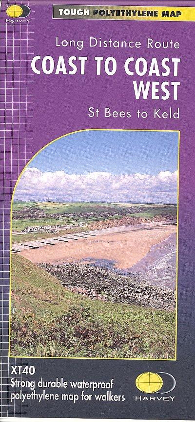 Coast to Coast (West) | wandelkaart 1:40.000 9781851374885  Harvey Maps   Wandelkaarten, Meerdaagse wandelroutes Noord-Engeland