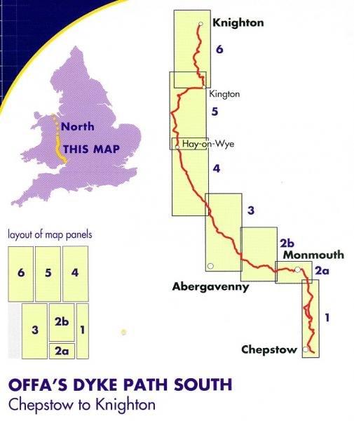 Offa's Dyke South Map | wandelkaart 1:40.000 9781851375028  Harvey Maps   Meerdaagse wandelroutes, Wandelkaarten Wales