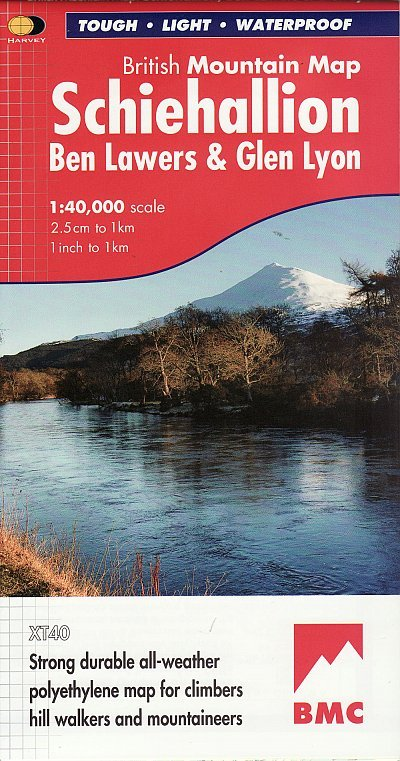 Schiehallion BMC Mountain Map | wandelkaart 1:40.000 9781851375110  Harvey Maps   Wandelkaarten Schotland