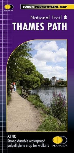 Thames Path National Trail Map | wandelkaart 1:60.000 9781851375127  Harvey Maps   Meerdaagse wandelroutes, Wandelkaarten Midlands, Cotswolds, Oxford