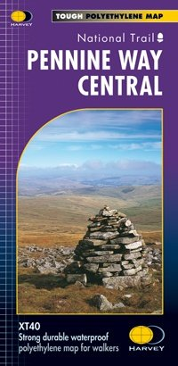 Pennine Way Central | wandelkaart 1:40.000 9781851375202  Harvey Maps   Wandelkaarten, Meerdaagse wandelroutes Noord-Engeland
