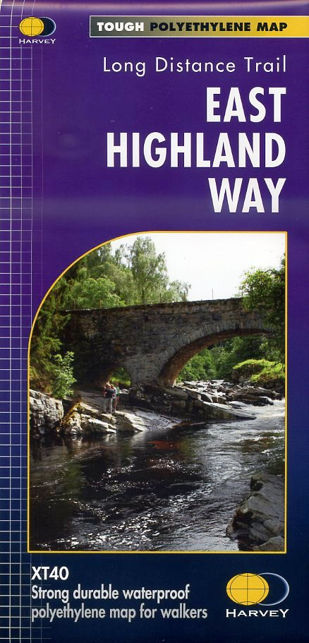 The East Highland Way | wandelkaart 1:40.000 9781851375301  Harvey Maps   Meerdaagse wandelroutes, Wandelkaarten Schotland