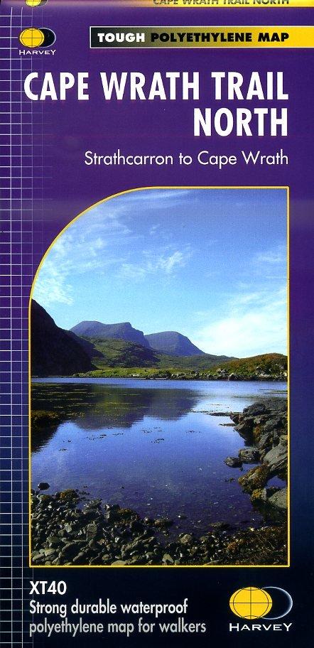 Cape Wrath Trail North | wandelkaart 1:40.000 9781851375332  Harvey Maps   Wandelkaarten, Meerdaagse wandelroutes Schotland